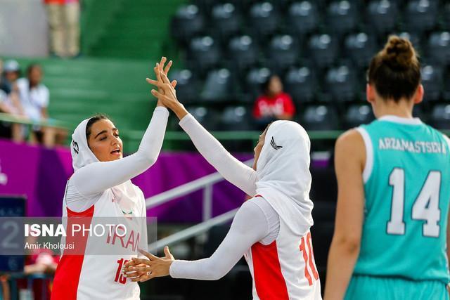 صعود دختران بسکتبال سه نفره ایران به یک چهارم نهایی مسابقات زیر 18 سال آسیا