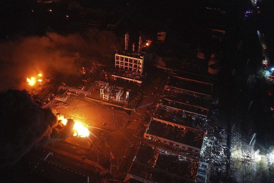 قربانیان انفجار کارخانه شیمیایی در چین به 62 تن افزایش یافت
