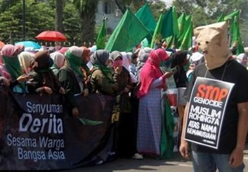 اندونزیایی ها خواهان سرانجام خشونت ها علیه مسلمانان روهینگیا شدند