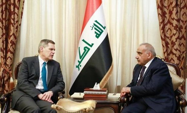 عبدالمهدی لزوم خروج نیرو های خارجی از عراق را به سفیر آمریکا ابلاغ کرد
