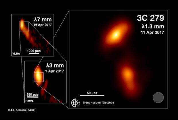 تصویر خروج جت پلاسما از سیاهچاله ثبت شد
