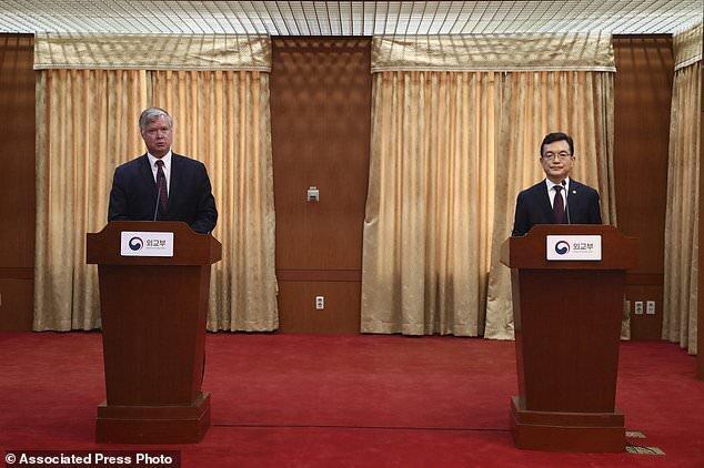 واشنگتن از همکاری بین دو کره حمایت کرد، عکس