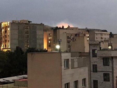 آتش سوزی در فضای سبز در محدوده شهرک شهید دقایقی در شرق تهران ، شرح پلیس
