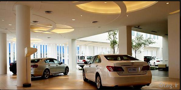 آنالیز طراحی داخلی و خارجی دکوراسیون نمایشگاه اتومبیل لکسوس