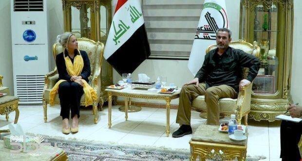دیدار رئیس ستاد هیات حشد شعبی با نماینده سازمان ملل در عراق