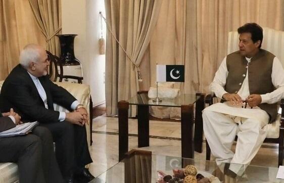 ظریف با عمران خان ملاقات کرد
