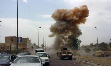 انفجار بمب در جهت کاروان لجستیک ائتلاف بین المللی در عراق
