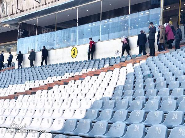 ماجرای عجیب ترین عکس ملاقات ایران و سوریه، زنان حاضر در استادیوم آزادی چه کسانی بودند؟
