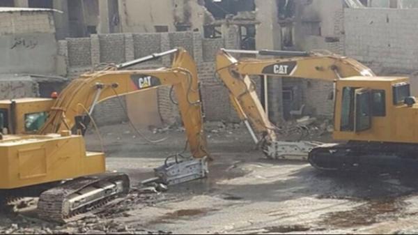 تخریب یک باب مسجد در منطقه شیعه نشین عربستان سعودی
