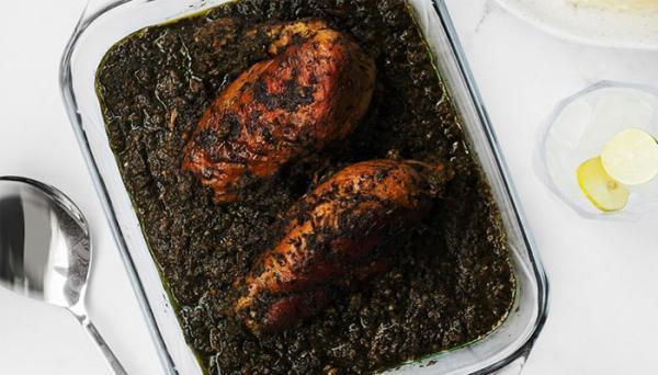 طرز تهیه مرغ ترش شمالی با سبزی محلی و جایگزین های آن