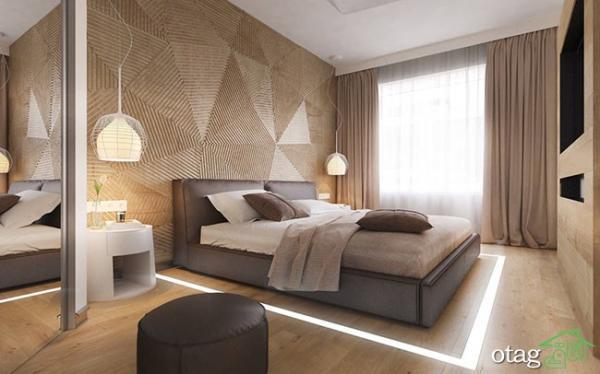 25 مدل عکس از طرح های شیک چوب روی دیوار اتاق خواب